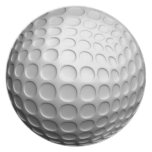 Placa de la pelota de golf plato para fiesta