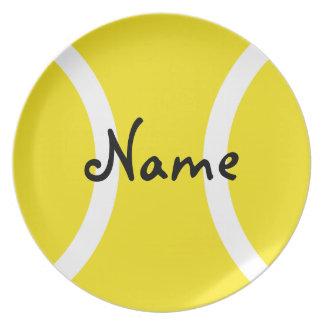 Placa de la pelota de tenis - regalo único con su  platos