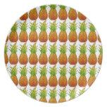 Placa de la piña plato de cena