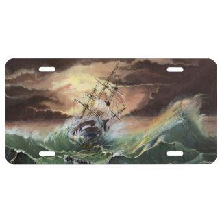 Placa de la pintura de la nave placa de matrícula