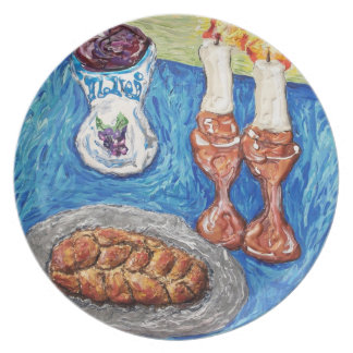 placa de la pintura del oringinal del arte del sha plato de comida