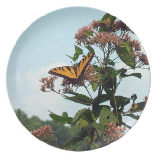 Placa de la planta de mariposa plato