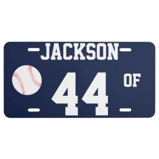 Placa de la plantilla de los deportes - béisbol placa de matrícula