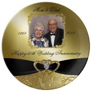 Placa de la porcelana de la foto del aniversario platos de cerámica
