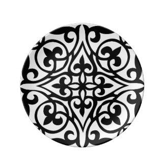 Placa de la porcelana de la greca plato de cerámica