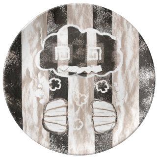 Placa de la porcelana de la prisión de la nube platos de cerámica