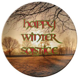 Placa de la porcelana de Sun del invierno para el Plato De Cerámica