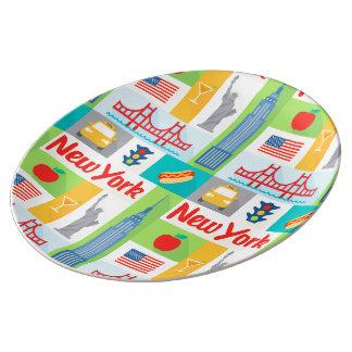 placa de la porcelana del arte de los mediados de platos de cerámica