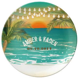 Placa de la porcelana del boda de la puesta del plato de cerámica