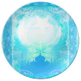 Placa de la porcelana del Ramadán Kareem Platos De Cerámica