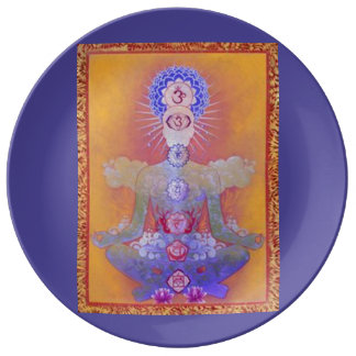 Placa de la porcelana del SISTEMA de CHAKRA Platos De Cerámica