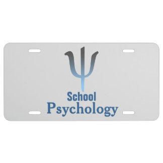 Placa de la psicología de la escuela placa de matrícula