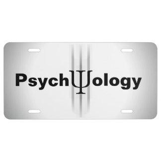 Placa de la psicología placa de matrícula
