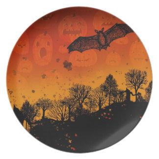 Placa de la puesta del sol de Halloween Platos De Comidas