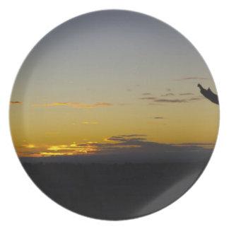 Placa de la puesta del sol del Gran Cañón Platos Para Fiestas