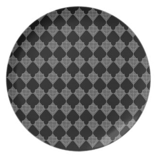 Placa de la punta de flecha de la espada plato de cena