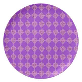 Placa de la punta de flecha de la lavanda plato de comida