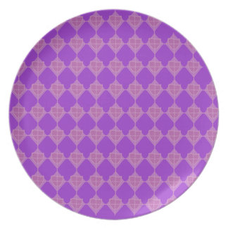 Placa de la punta de flecha de la lavanda plato para fiesta