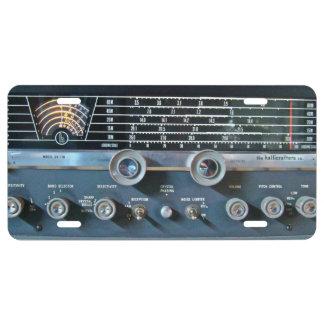 Placa de la radio de la onda corta del vintage placa de matrícula