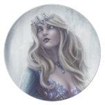 Placa de la reina del invierno plato
