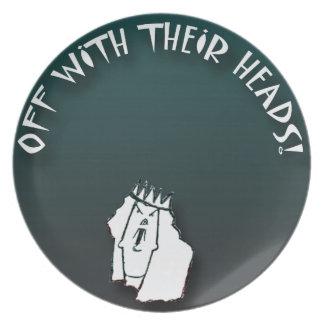 Placa de la reina platos