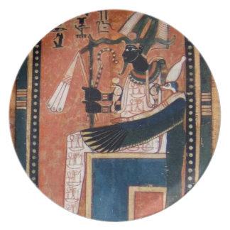 Placa de la reproducción de Osiris Egipto antiguo Platos Para Fiestas