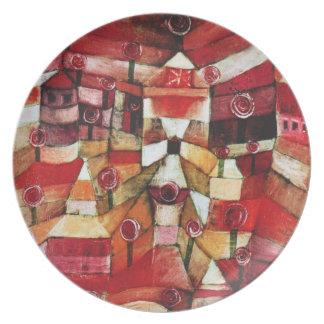 Placa de la rosaleda de Paul Klee Plato De Comida