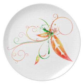 Placa de la salpicadura de la hoja plato de comida