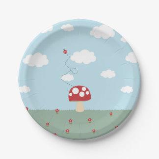 Placa de la seta platos de papel