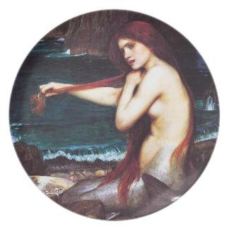 Placa de la sirena de John William Waterhouse Plato De Comida