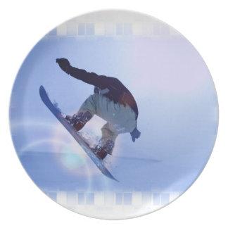 Placa de la snowboard plato