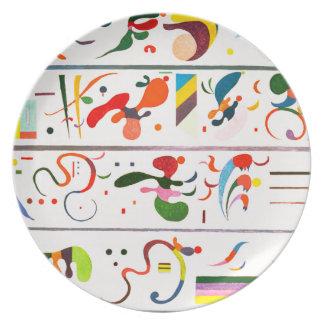 Placa de la sucesión de Kandinsky Plato Para Fiesta