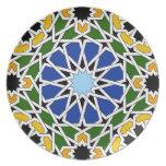 Placa de la teja del Moorish Plato De Comida