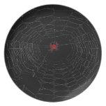 Placa de la tela de araña platos
