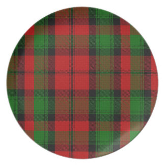 Placa de la tela escocesa de tartán de Kierr Platos De Comidas