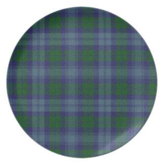 Placa de la tela escocesa de tartán de Sutherland Platos