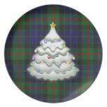 Placa de la tela escocesa del día de fiesta plato