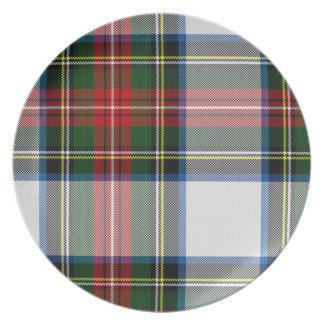 Placa de la tela escocesa del vestido de Stewart Plato De Comida