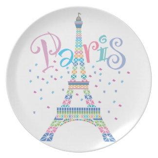 Placa de la torre Eiffel Plato