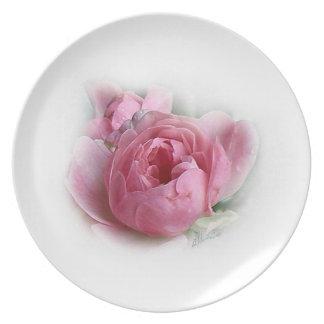 Placa de la torta del rosa de hadas platos
