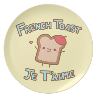 Placa de la tostada francesa plato para fiesta