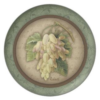Placa de la uva de Redoute Plato De Cena
