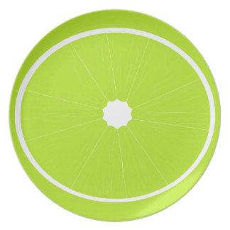 Placa de la verde lima plato