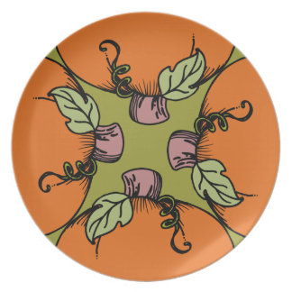 Placa de las calabazas platos para fiestas