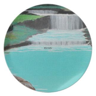 """Placa de las """"cascadas"""" platos"""