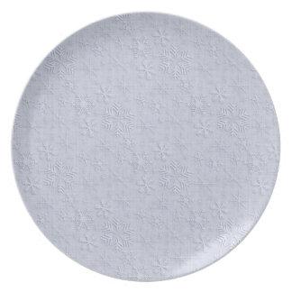 Placa de las escamas de la nieve del navidad plato de comida