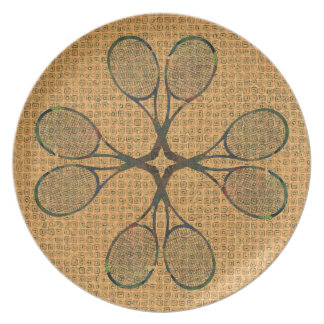 Placa de las ESTAFAS de TENIS Platos Para Fiestas