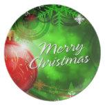 Placa de las Felices Navidad 13 Platos Para Fiestas