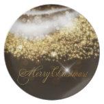 Placa de las Felices Navidad 22 Plato De Cena