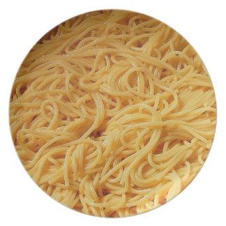 Placa de las pastas plato de comida